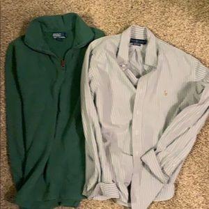 Two Ralph Lauren long sleeve shirts